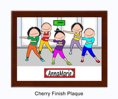 Zumba Plaque Female - Personalized