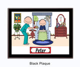 Home Health Care Provider Male with Male Plaque - Personalized
