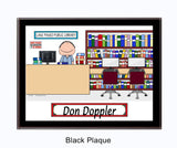9060 - Library Plaque Male - Personalized