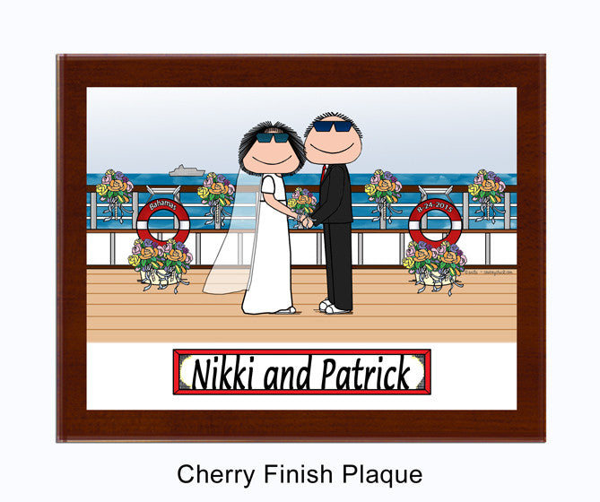 9072 - Cruise Wedding Plaque Male and Female - Personalized