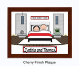 9073 - Home Sweet Home Contemporary Plaque Male and Female - Personalized