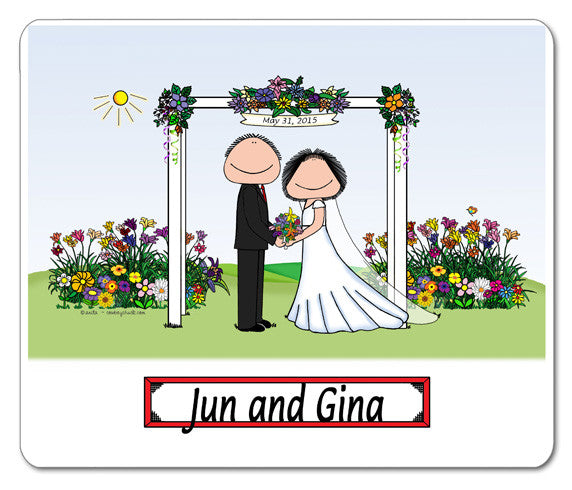 Wedding Under Arbor Mouse Pad