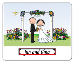 Wedding Under Arbor Mouse Pad Couple Personalized