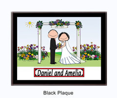 Wedding Under Arbor Plaque Personalized