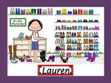 Cute Shoes Cartoon Picture Female - Personalized 9079