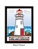 Lighthouse Plaque - Couple Personalized