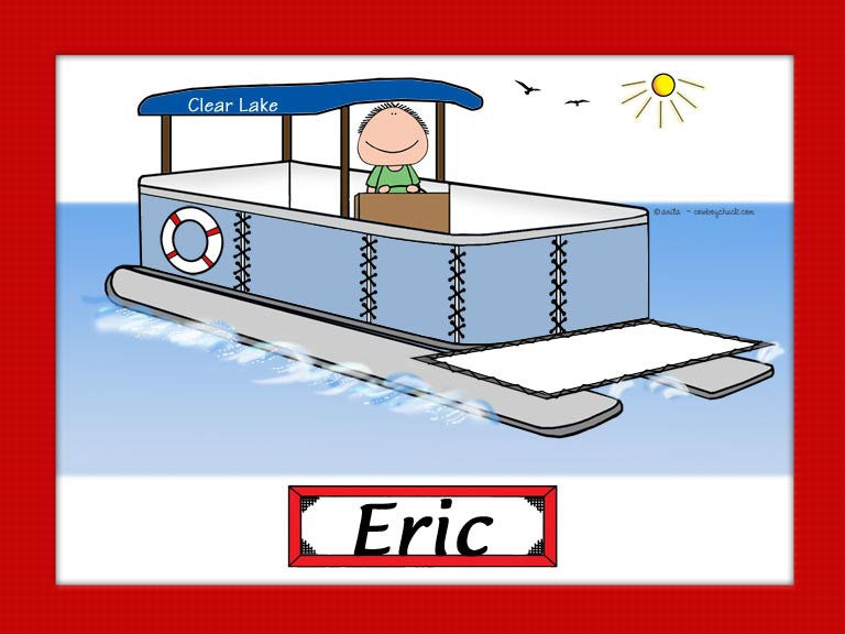 Pontoon Boat Cartoon Picture