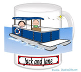 9084 Pontoon Boat Couple Mug Male and Female - Personalized
