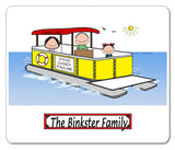 9085 Pontoon Boat Family 1 Kid Mouse Pad - Personalized