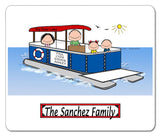 9086 Pontoon Boat Family 2 Kids Mouse Pad - Personalized