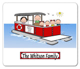 9087 Pontoon Boat Family 4 Kids Mouse Pad - Personalized