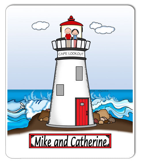 Lighthouse Mouse Pad Couple Personalized