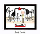 9092 - Photography Studio Plaque Male - Personalized