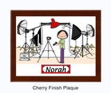9093 - Photography Studio Plaque Female - Personalized