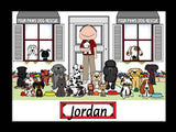 Dog Rescue Cartoon Picture Male - Personalized 9094
