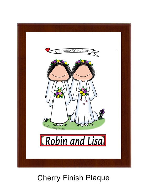 Bride - Bride Plaque Female / Female - Personalized 9107