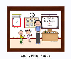#1 Teacher (in pants) Plaque Female - Personalized