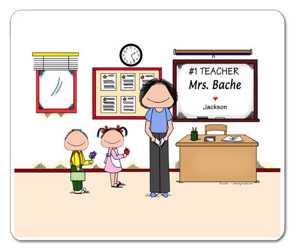 #1 Teacher (in pants) Mouse Pad
