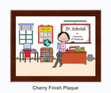 Instructor (in pants) Plaque Female - Personalized