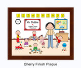 Preschool in pants Plaque Female - Personalized