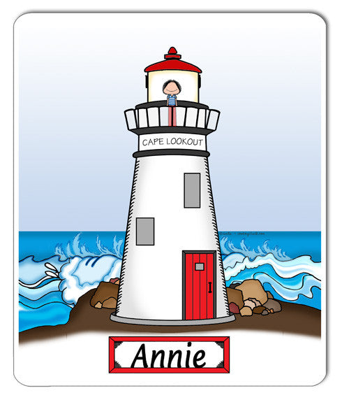 9111 Lighthouse Mouse Pad Female - Personalized