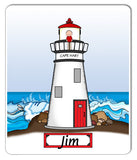 9112 Lighthouse Mouse Pad Male - Personalized