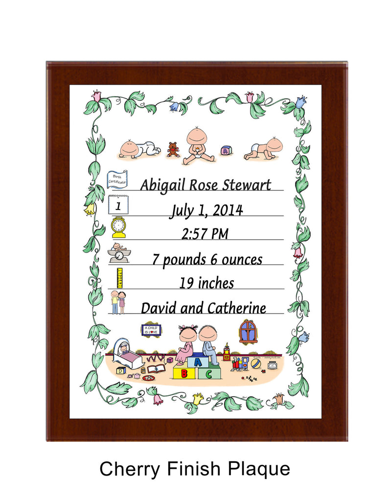Birth Announcement Plaque