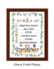 Birth Announcement Plaque Personalized