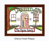 Family Home 2-8 names Plaque Personalized