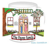 Family Home 2-8 names Mug Personalized