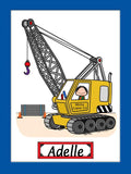Crane Operator Cartoon Picture Female - Personalized 9137