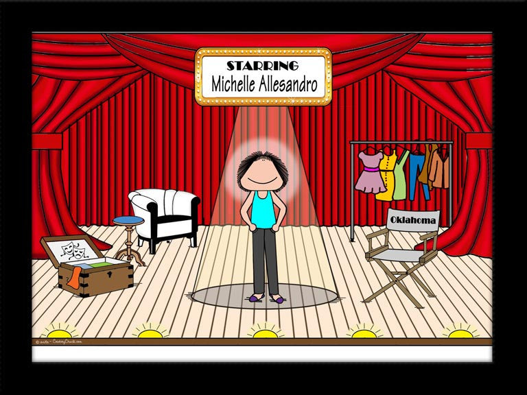 Theatre Stage Cartoon Picture