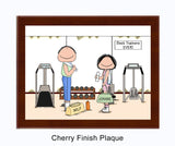 9141 Personal Trainers Cherry Plaque Male and Female - Personalized