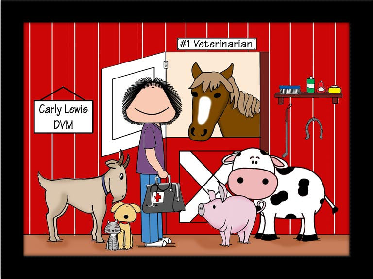 Veterinarian for Big Animals Cartoon Picture