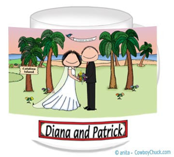 Wedding on the Beach (Facing) Mug