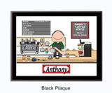 Barista Plaque Male - Personalized 9150