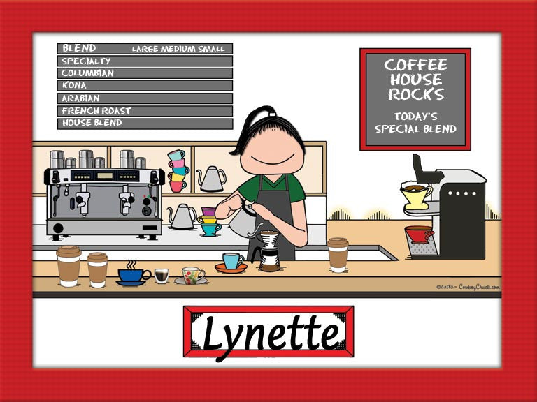 Barista Cartoon Picture