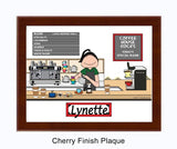 Barista Plaque Female - Personalized 9151