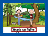 Bird Watcher Cartoon Picture Male and Female - Personalized 9159