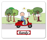 Motor Scooter Mouse pad 9168 Male - Personalized