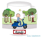 Motor Scooter Mug 9168 Male - Personalized