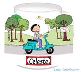Motor Scooter Mug 9169 Female - Personalized