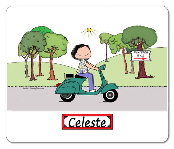 Motor Scooter Mouse pad 9169 Female - Personalized