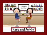 Girl's Night Out Female/Female personalized Cartoon Picture 9171