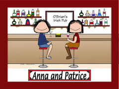 Girl's Night Out Cartoon Picture