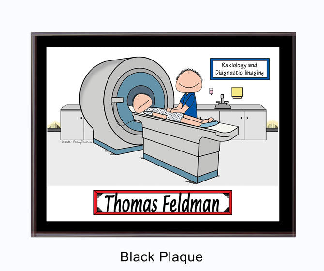 CT Scan Tech Plaque Male - Personalized 9174