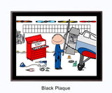 Airplane Mechanic Plaque Picture Personalized Male 9186