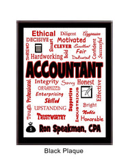 Accountant Expressions Plaque