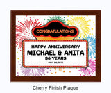 Anniversary Plaque Marquee - White Background/Cherry Plaque