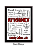 Attorney/Lawyer Plaque Expressions - Personalized Custom